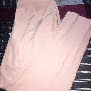 Trousers in nude/blush size 10